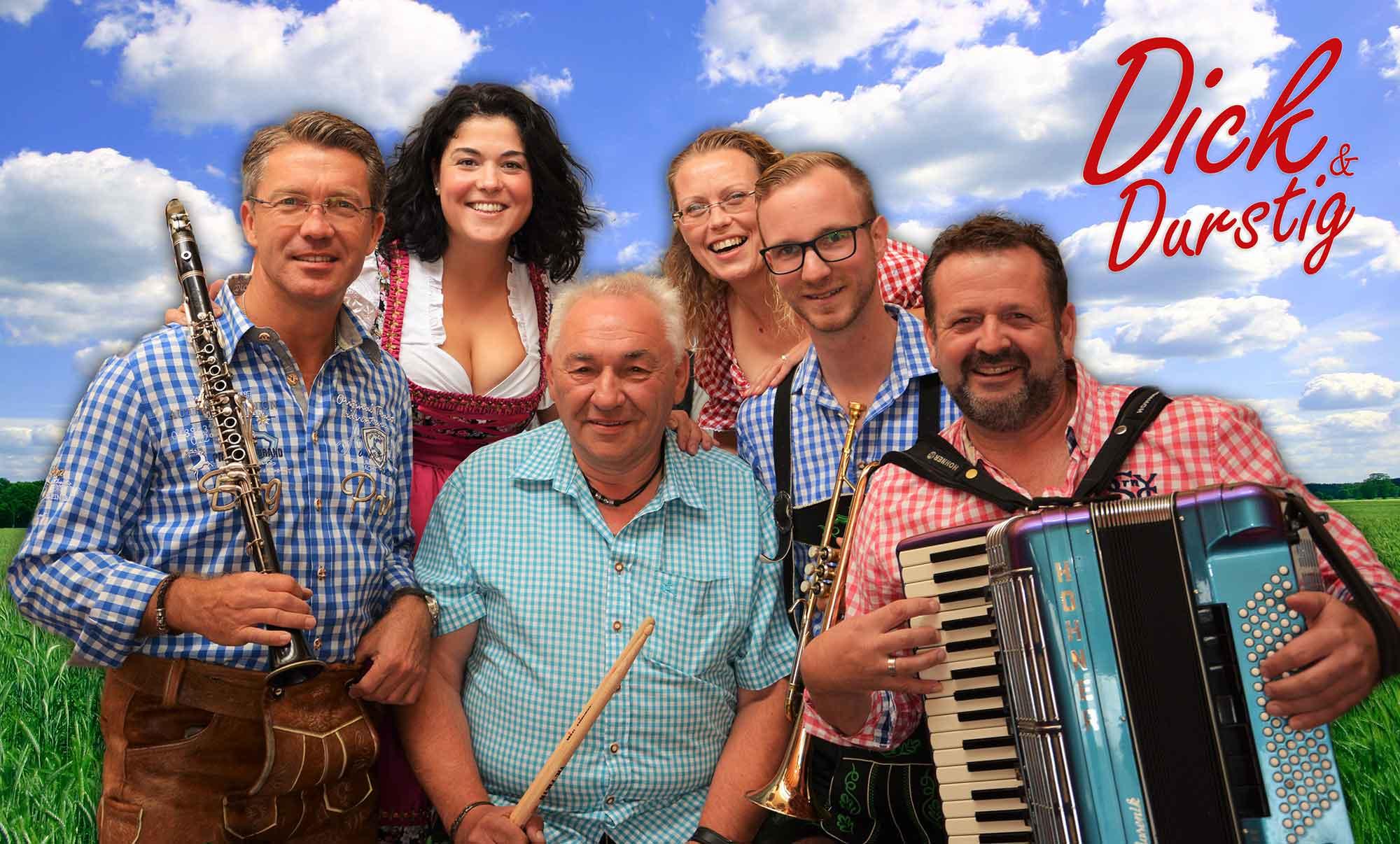 Dick & Durstig rocken am Eröffungs-Donnerstag das Festzelt – Eintritt frei!